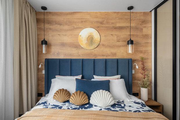 Фотография: Спальня в стиле Современный, Квартира, Проект недели, 3 комнаты, 60-90 метров, Екатерина Уланова – фото на INMYROOM