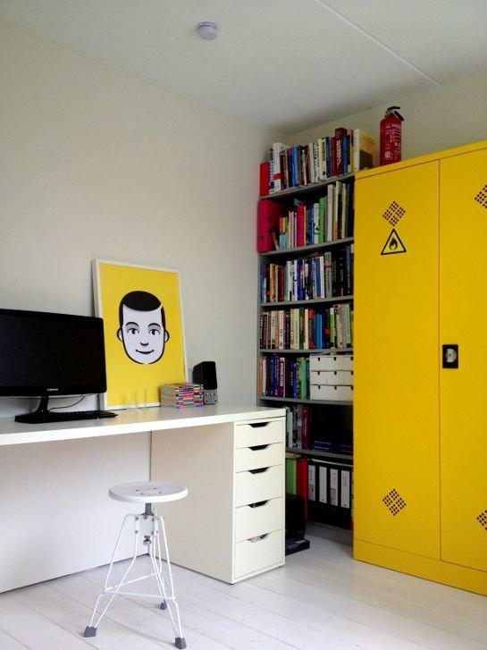 Фотография: Офис в стиле Лофт, Декор интерьера, Дизайн интерьера, Цвет в интерьере, Желтый – фото на InMyRoom.ru