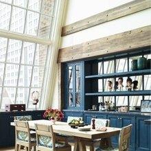 Фотография: Кухня и столовая в стиле Кантри, Дизайн интерьера, Большие окна – фото на InMyRoom.ru