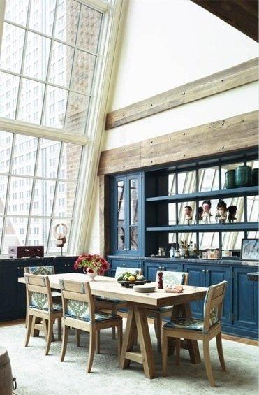 Особенности кухни синего цвета