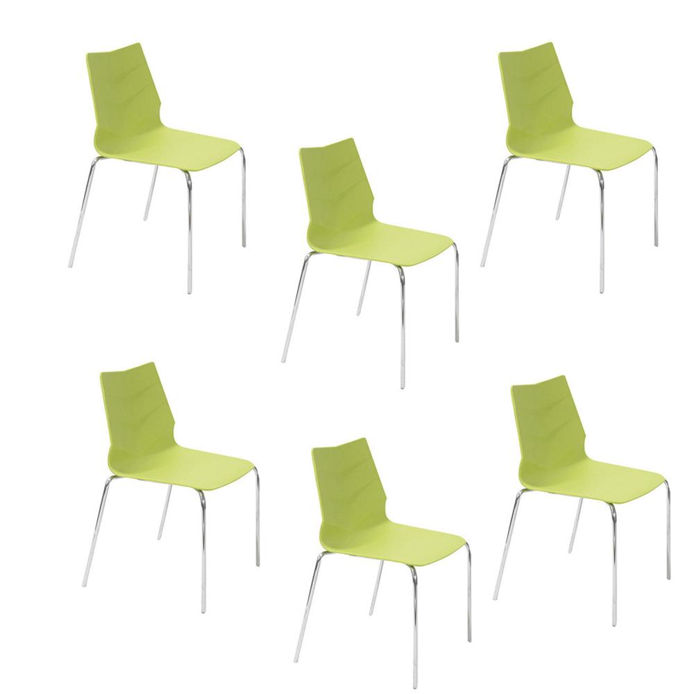 Купить Набор из шести стульев на ножках из хромированного металла, inmyroom, Китай