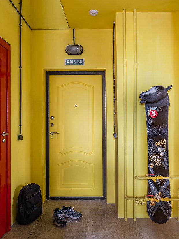 Фотография: Прихожая в стиле Лофт, Квартира, Проект недели, Самара, 1 комната, до 40 метров, Екатерина Малмыгина – фото на INMYROOM
