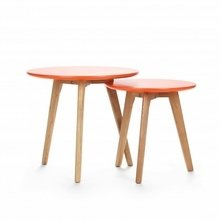 """Набор кофейных столов """"Daisy"""" с ножками из прочной древесины белого дуба"""