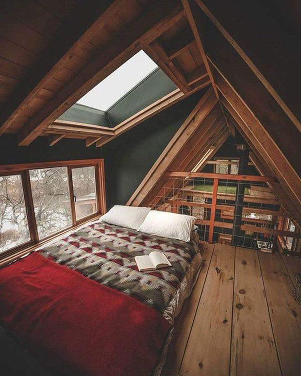Фотография: Спальня в стиле Лофт, Эко, Гид, Дом и дача, домик на дереве – фото на INMYROOM
