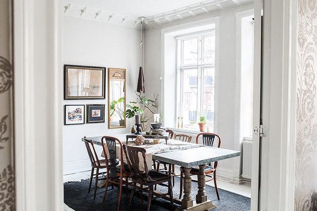 Фотография: Кухня и столовая в стиле Скандинавский, Декор интерьера, Квартира, Швеция, 3 комнаты – фото на InMyRoom.ru