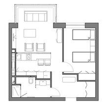 Фотография: Планировки в стиле , Малогабаритная квартира, Квартира, Дома и квартиры, Проект недели – фото на InMyRoom.ru