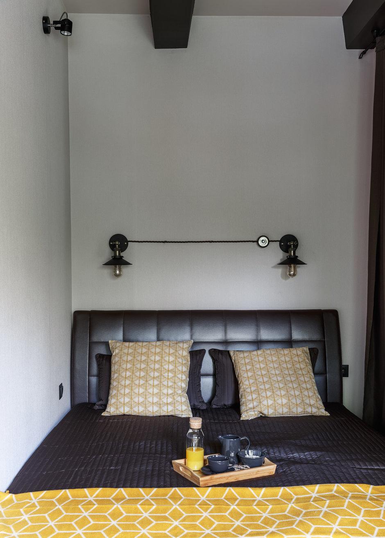 Фотография: Спальня в стиле Лофт, Малогабаритная квартира, Квартира, Студия, Проект недели, Москва, Марина Саркисян, Кирпичный дом, до 40 метров – фото на InMyRoom.ru