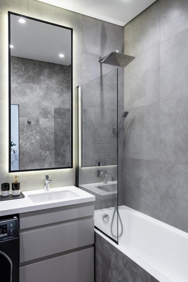 Фотография: Ванная в стиле Современный, Квартира, Проект недели, Москва, 2 комнаты, 40-60 метров, Deus of House – фото на INMYROOM