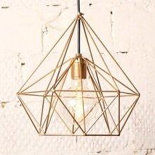 Лампа с ретролампочкой «Бриллиант» золотая