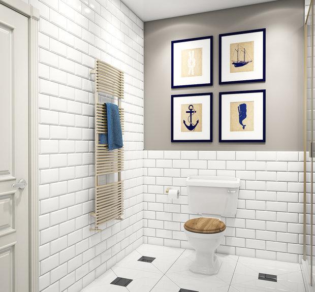 Фотография:  в стиле , Ванная, Классический, Квартира, Проект недели – фото на InMyRoom.ru