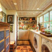 Фотография: Кухня и столовая в стиле Кантри, Современный,  – фото на InMyRoom.ru