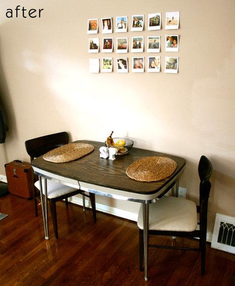 Фотография:  в стиле , Кухня и столовая, Декор интерьера, DIY, Мебель и свет, Переделка, Кресло, Диван, Люстра, Комод, Зеркало, Стул, Холодильник, идеи переделки старой мебели, переделка старой мебели фото – фото на InMyRoom.ru
