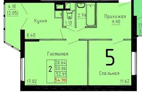 планировка квартиры 55 м2