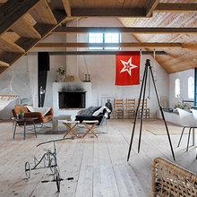 Фотография: Гостиная в стиле Лофт, Скандинавский, Декор интерьера, Декор дома, Гамак – фото на InMyRoom.ru