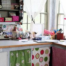 Фотография: Офис в стиле Кантри, Современный, Декор интерьера, Дом, Декор дома, Системы хранения, Шторы – фото на InMyRoom.ru