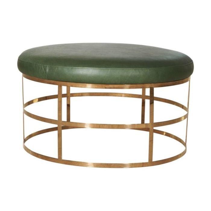 Стол журнальный Pillar green с металлическим основанием