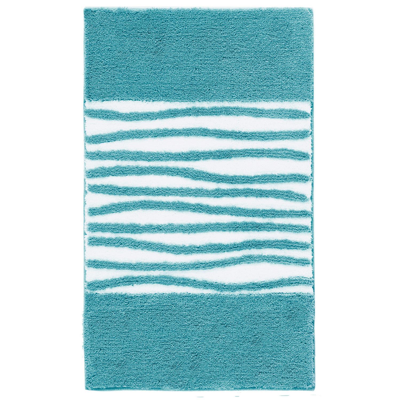 Коврик для ванной Morgan голубой 60x100