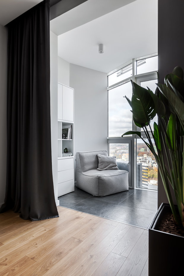Фотография: Балкон в стиле Минимализм, Современный, Квартира, Проект недели, Химки, 3 комнаты, 60-90 метров, Flatforfox – фото на INMYROOM