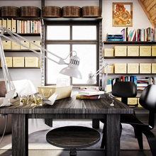 Фотография: Офис в стиле Скандинавский, Дом, Чердак, Мансарда – фото на InMyRoom.ru