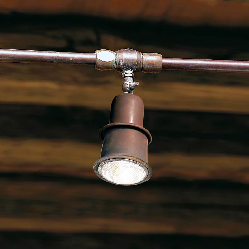 Подвесной светильник Aldo Bernardi Civetta из металла бронзового цвета