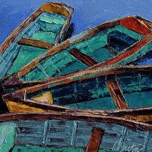 Картина (репродукция, постер): Old boats - Лесли Саета