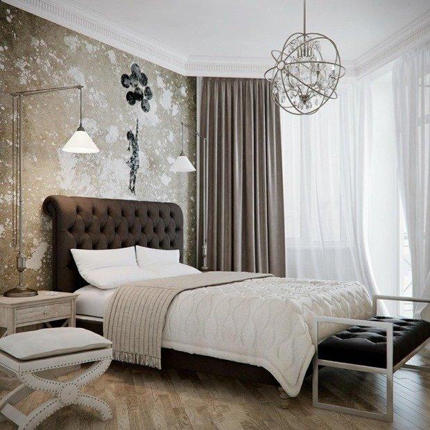 Фотография: Спальня в стиле Прованс и Кантри, Эклектика, Интерьер комнат, Кровать, Гардероб, Комод, Пуф, Табурет – фото на InMyRoom.ru