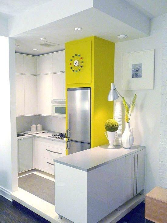 Фотография: Кухня и столовая в стиле Современный, Декор интерьера, Дизайн интерьера, Цвет в интерьере, Желтый – фото на InMyRoom.ru