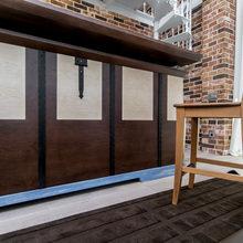 Фотография: Кухня и столовая в стиле Лофт, Современный, Гостиная, Интерьер комнат, Дачный ответ – фото на InMyRoom.ru