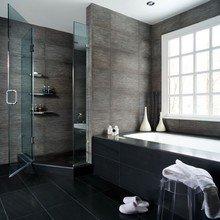 Фотография: Ванная в стиле Лофт, Восточный, Интерьер комнат, Декоративная штукатурка – фото на InMyRoom.ru