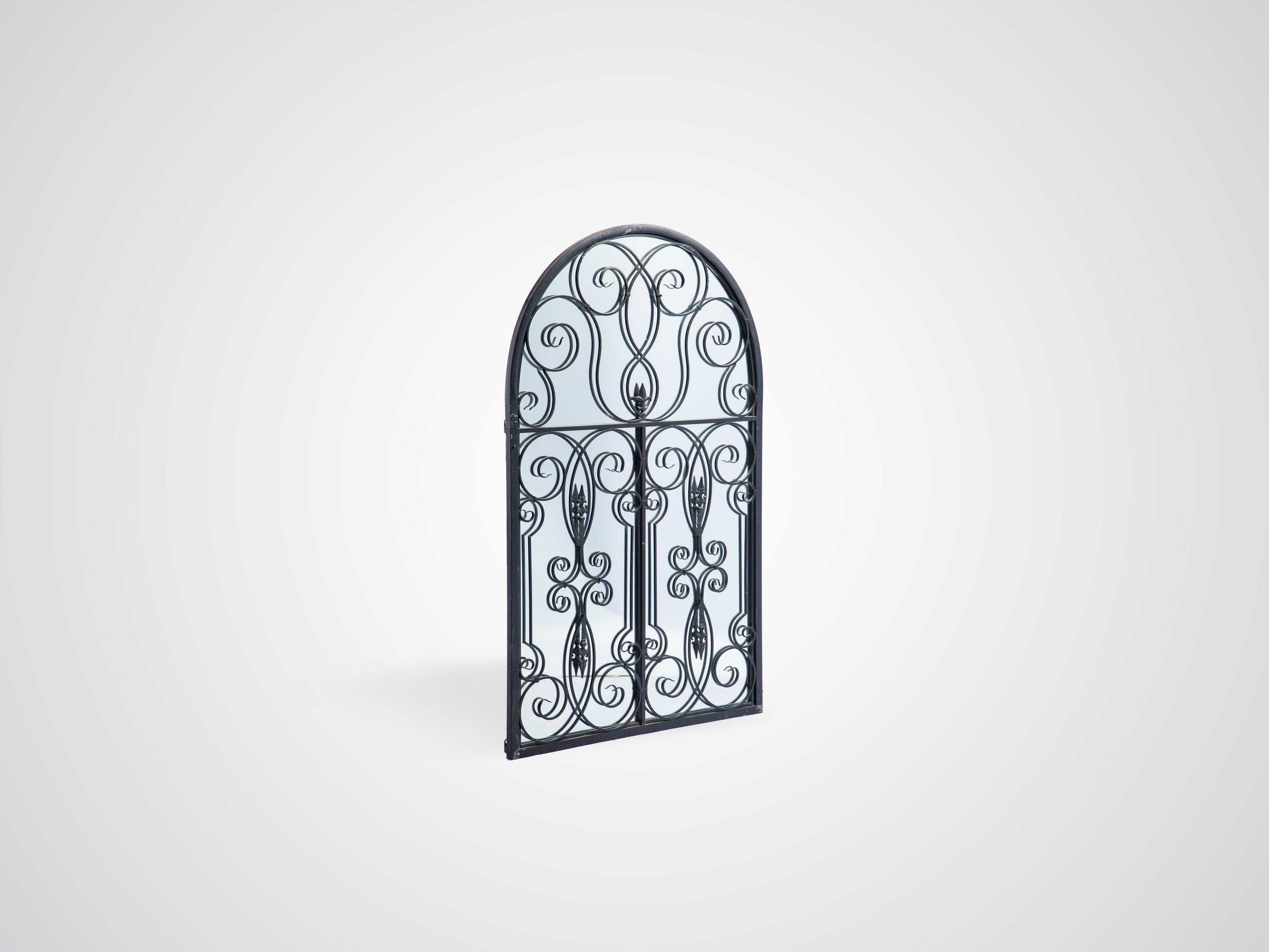 Купить Декоративное зеркало в железной раме с кованым декором, inmyroom, Китай