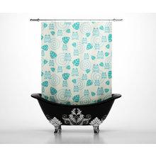 Дизайнерские шторы для ванной: Лягушки-квакушки