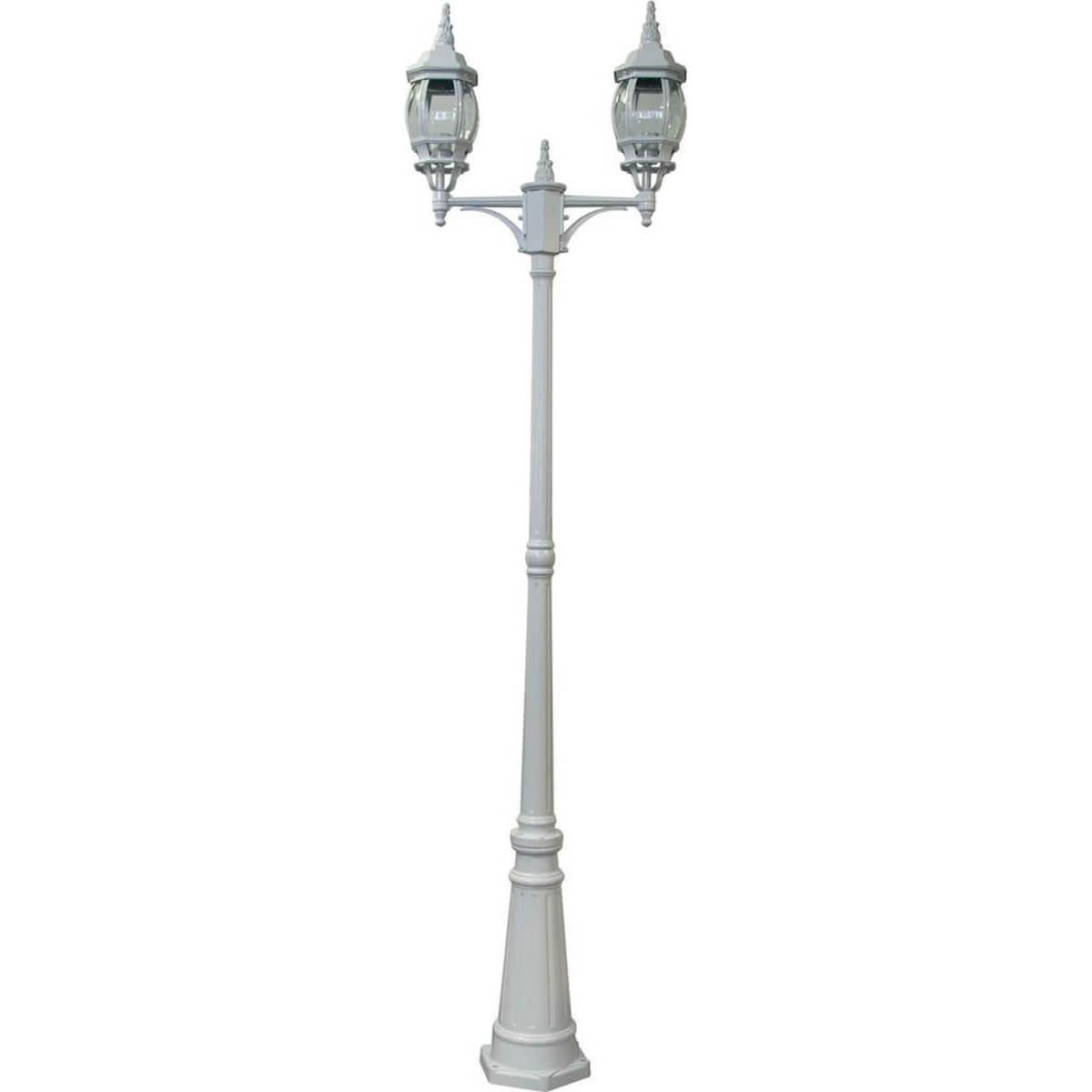 Садово-парковый светильник белого цвета