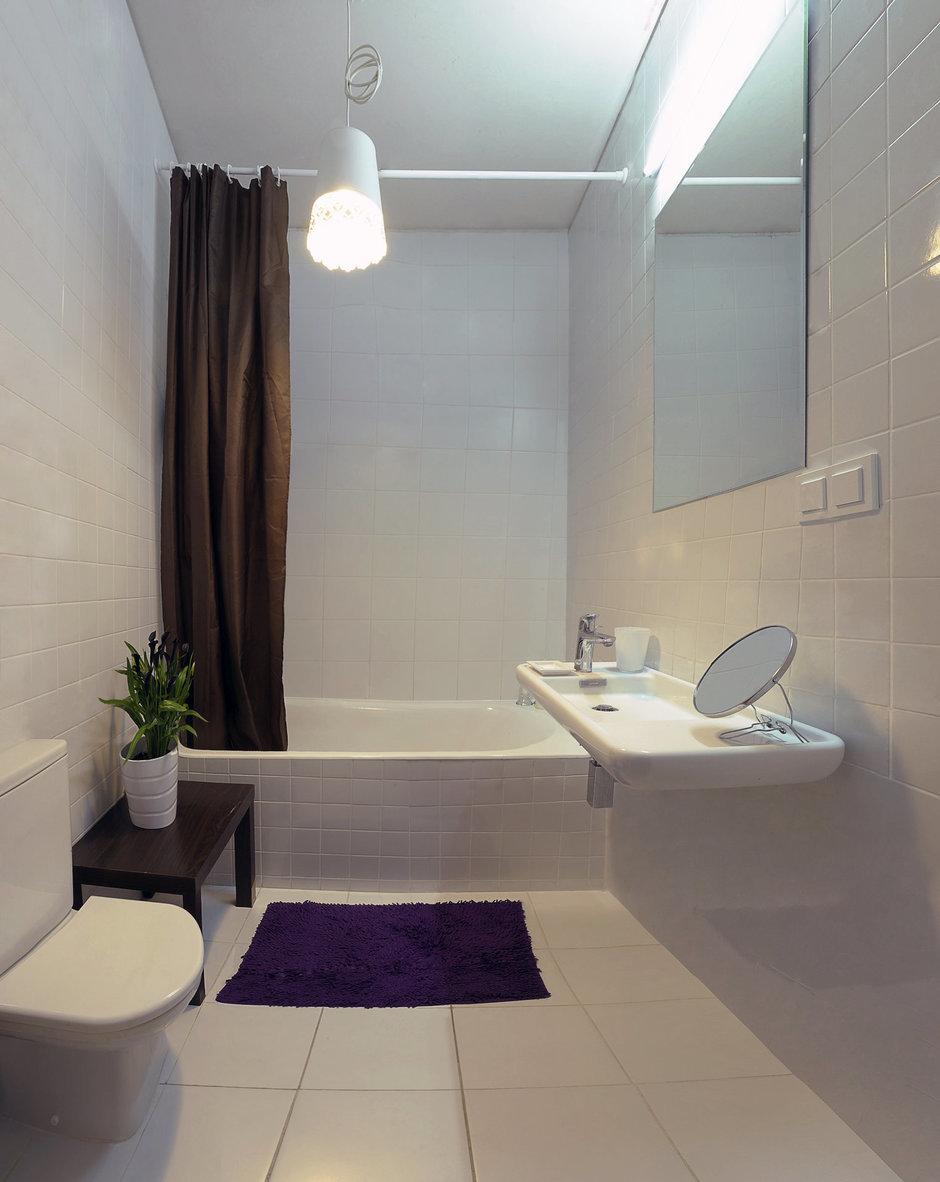 Фотография: Ванная в стиле Современный, DIY, Малогабаритная квартира, Квартира, Дома и квартиры, Переделка – фото на InMyRoom.ru