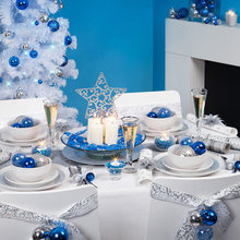 Фотография: Декор в стиле Современный, Декор интерьера, Праздник, Новый Год, Сервировка стола – фото на InMyRoom.ru