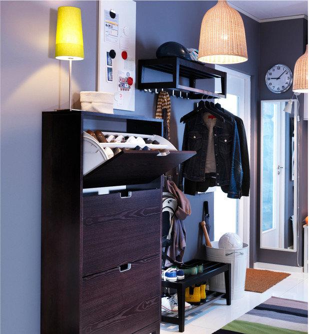 Фотография: Прихожая в стиле Скандинавский, Современный, Советы, хранение обуви, идеи хранения обуви – фото на InMyRoom.ru