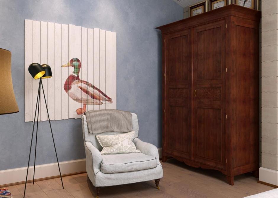 Фотография: Спальня в стиле Кантри, Дом, Проект недели, Челябинск, 3 комнаты, Более 90 метров, Марина Кутепова – фото на InMyRoom.ru