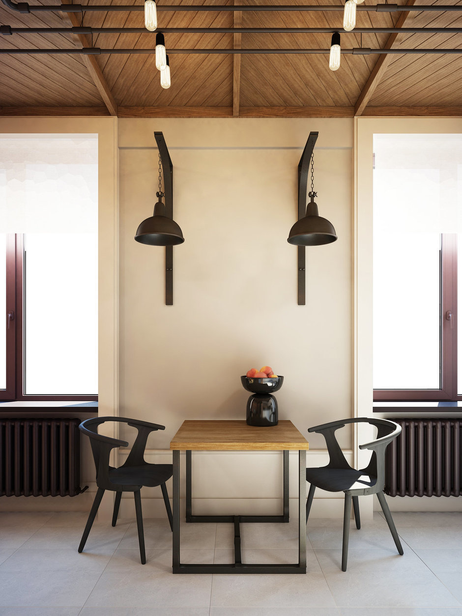 Фотография: Кухня и столовая в стиле Лофт, Квартира, Планировки, Проект недели, Сталинка – фото на InMyRoom.ru