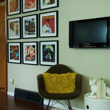 Фотография: Декор в стиле Современный, Квартира, Дома и квартиры, Камин, Стеллаж, Принт – фото на InMyRoom.ru