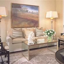 Фотография: Гостиная в стиле Классический, Современный, Квартира, Дом, Цвет в интерьере, Дома и квартиры, Камин, Синий – фото на InMyRoom.ru