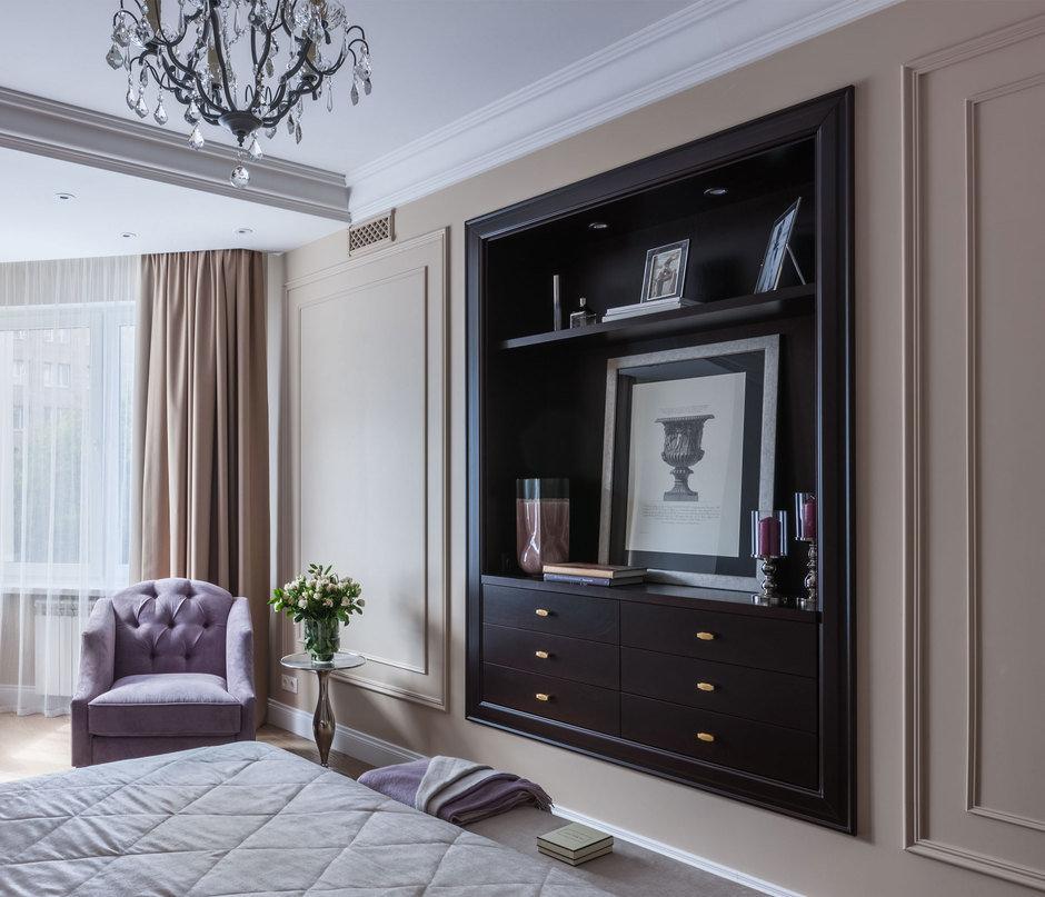 Фотография: Спальня в стиле Классический, Квартира, Проект недели, Москва, Монолитный дом, 4 и больше, Более 90 метров, Анна Максимова, ЖК «Шатер» – фото на InMyRoom.ru