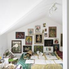 Фото из портфолио  Викторианский дом в Лондоне : Великолепный зелёный цвет в интерьере – фотографии дизайна интерьеров на INMYROOM
