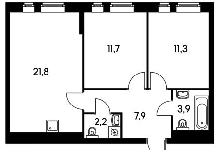Прокачать эргономику пространства двушки с кухней-гостиной