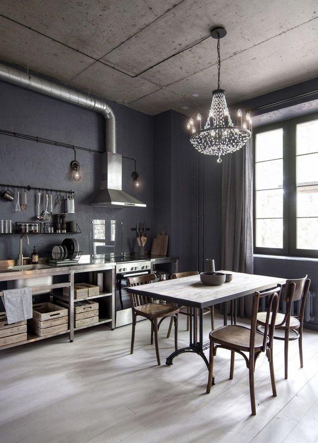 Фотография: Кухня и столовая в стиле Лофт, Советы, свет, экономия, электроэнергия – фото на INMYROOM