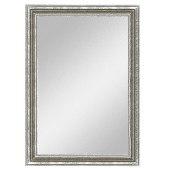 """Зеркало большое в серебряной широкой раме """"Верона"""""""