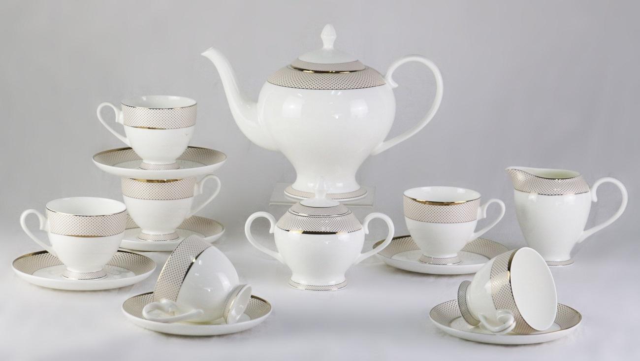 Чайный сервиз Bianko 17 Pcs Tea Set из фарфора