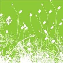 "Триптих на холсте ""Зеленое поле"""