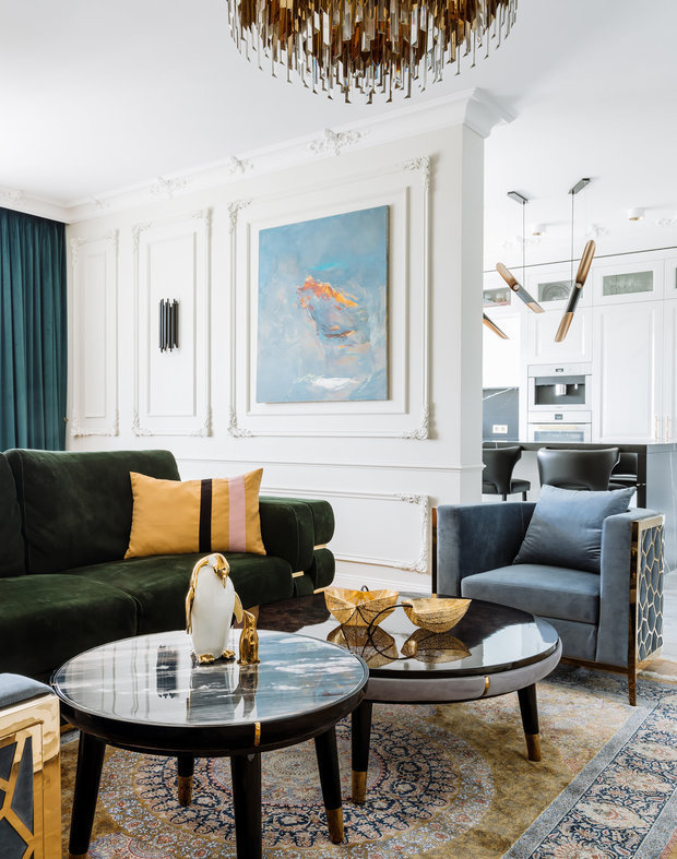 Фотография: Гостиная в стиле Классический, Современный, Гид – фото на INMYROOM