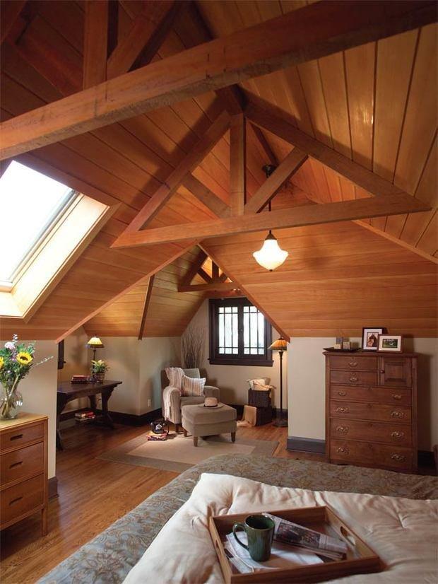 Фотография: Гостиная в стиле Эко, Дом и дача, как утеплить дачный дом, загородный дом – фото на INMYROOM