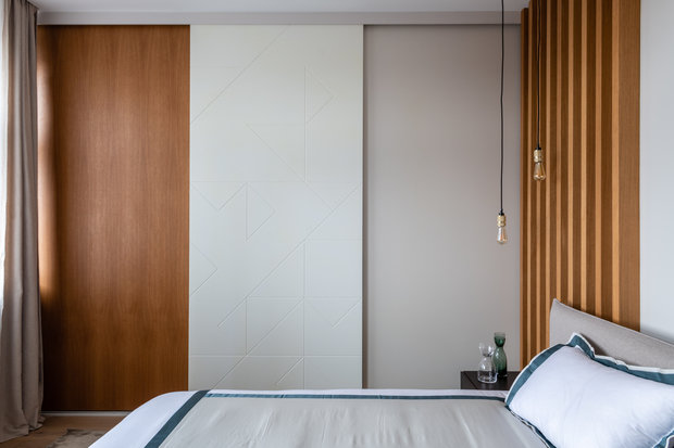 Фотография: Спальня в стиле Современный, Квартира, Проект недели, Москва, 4 и больше, Более 90 метров, Вера Шеверденок – фото на INMYROOM