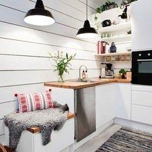 Фотография: Кухня и столовая в стиле Скандинавский, Квартира, Советы, Уютная квартира, кухня в хрущевке, как обустроить кухню в хрущевке, малометражная кухня, зонирование кухни в хрущевке – фото на InMyRoom.ru